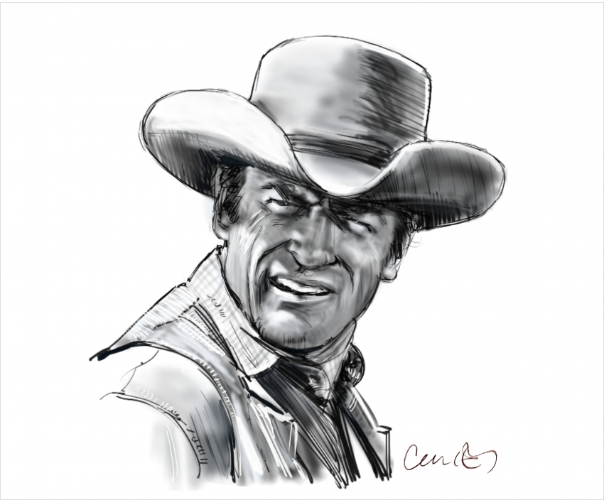 James Arness by Roger_Curley